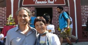 Los documentalistas Francesco Taboada y Eréndira Valle en el Festival de Cine de Todos Santos